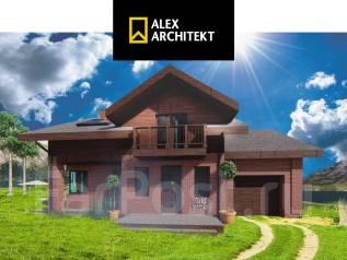 Проект дома 301 Zz AlexArchitekt Шале с гаражом. 100-200 кв. м., 2 этажа, 5 комнат, бетон