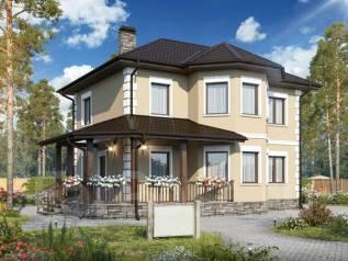 Проект двухэтажного дома 154м2. 100-200 кв. м., 2 этажа, бетон
