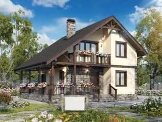 Проект двухэтажного дома 118м2. 100-200 кв. м., 2 этажа, каркас