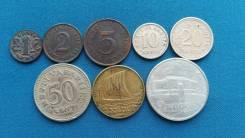 Эстония подборка из 8 монет