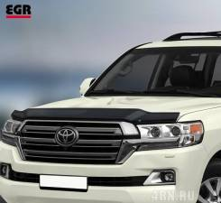 Дефлектор капота Toyota LAND Cruiser 200 2015+. Toyota Land Cruiser, GRJ200, J200, URJ200, URJ202, URJ202W, UZJ200, UZJ200W, VDJ200 1GRFE, 1URFE, 1VDF...
