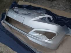 Бампер передний новый (cеребристый / RHM) Hyundai Solaris 14-17г