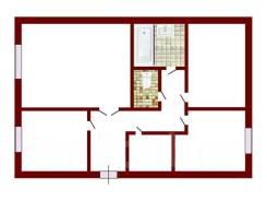 3-комнатная, улица Нахимовская 37. Нахимовская, агентство, 64,0кв.м. План квартиры