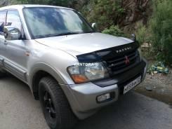 Мухобойка, дефлектор капота, на капот. Mitsubishi Pajero 2000 - 2006. Mitsubishi Pajero, V63W, V64W, V65W, V68W, V73W, V75W, V77W, V78W 4D56T, 4M41, 6...