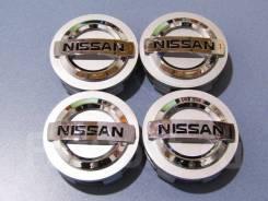 Колпачки диска ЦО (заглушка диска) центрального отверстия Nissan 60мм серебро + буквы 3D
