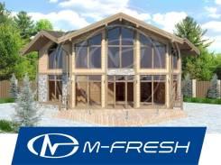 M-fresh Queen (Готовый проект каркасного дома с витражами! ). 100-200 кв. м., 2 этажа, 5 комнат, бетон