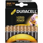 Батарейка Duracell Basic AAA (LR03) алкалиновая, 18BL