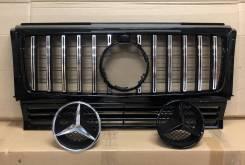 Решетка радиатора для Mercedes-Benz G-class W463 AMG GTR стиль хром