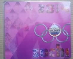 25 рублей 2011 Горы с цветной эмалью в блистере Розовая