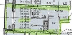 1-комнатная, улица Карла Маркса 146б. Железнодорожный, частное лицо, 28,7кв.м.