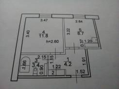 1-комнатная, Тимофеевка, улица Первомайская 16. Ольгинский, частное лицо, 28,6кв.м.