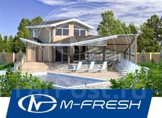M-fresh Parus (Готовый проект бани с бассейном и жилыми комнатами! ). 100-200 кв. м., 2 этажа, 3 комнаты, каркас