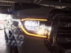 Фары эксклюзив LED Toyota Tundra 2013- 2017 комплект R+L, черные №5