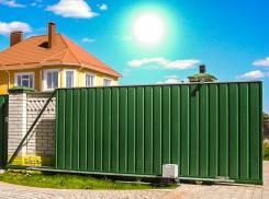 Откатные ворота в Орехово-Зуево.