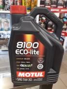 Motul 8100 Eco-Lite. 5W-30, синтетическое, 5,00л.