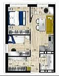 2-комнатная, улица Стрелковая 18а. Фадеева, проверенное агентство, 39,0кв.м. План квартиры