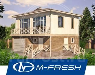 M-fresh Francisko (Проект индивидуального дома с гаражом и балконом! ). 100-200 кв. м., 2 этажа, 2 комнаты, бетон
