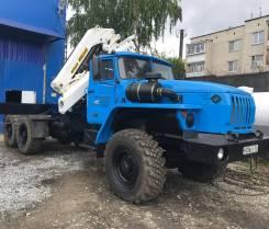 Урал 4320. Седельный тягач с кму 8 тонн стрела 12 м, 6x6