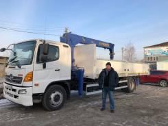 Hino 500. Продаётся грузовик бортовой с манипулятором, 7 684куб. см., 10 000кг., 4x2