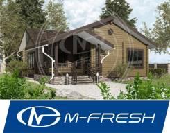 M-fresh Cherry Wood (Готовый проект небольшого дома из клееного бруса). 100-200 кв. м., 1 этаж, 4 комнаты, дерево