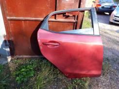 Дверь задняя правая, цвет бордовый