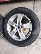 Продам комплект литых дисков R-16 с почти новой зимней резиной Dunlop. 5x114.30
