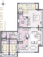 5-комнатная, проспект Красного Знамени 114а. Третья рабочая, проверенное агентство, 221,0кв.м. План квартиры