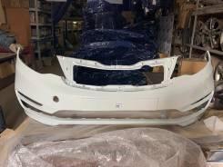 Kia Rio 15 рестайлинг Бампер передний белый