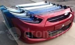 Новый бампер в цвет Hyundai Solaris (Солярис) рестайлинг 14-17 Россия