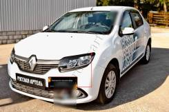 Защита фар прозрачная. Renault Logan, L8 H4M, K4M, K7M