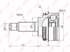 ШРУС наружный LYNXauto /CO-6900A/ EJ20# FORESTER SG5 01-07
