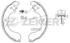 Колодки Торм. Бараб. Зад Chrysler Sebring (Js) 07- Dodge Avenger 07- Jeep Compass (Mk49) 06- Zekkert арт. bk-4179
