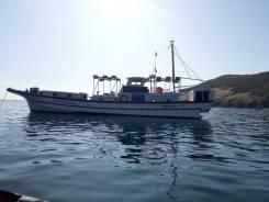 Катер 18 метров. Рыбалка. Отдых. Туризм. Услуги водолаза. 30 человек, 50км/ч