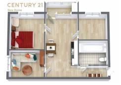3-комнатная, улица Хабаровская 11. Первая речка, проверенное агентство, 47,0кв.м. План квартиры