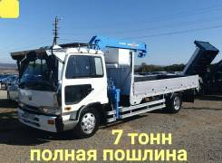 Nissan Diesel. 6,9л., борт 7 тонн + кран, 6 900куб. см., 7 000кг., 4x2