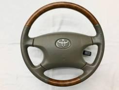 Оригинальный обод руля с косточкой под дерево Toyota