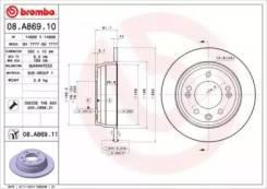 Диск тормозной Standard   зад  (CLM) Brembo [08A86910]