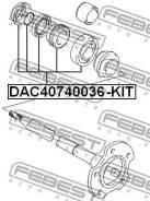 Подшипник ступицы колеса (ремкомплект)   зад прав/лев   Febest DAC40740036KIT