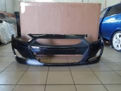 Бампер передний Hyundai Solaris [производство Россия](цвет чёрный MZH)