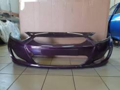 Бампер передний Hyundai Solaris [производство Россия] (фиолетовый PXA)