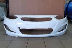 Бампер передний Hyundai Solaris [производство Россия] (белый PGU)