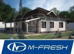 M-fresh Kvadro! (Посмотрите этот проект одноэтажного дома 12х12 м). 100-200 кв. м., 1 этаж, 4 комнаты, бетон
