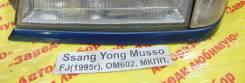 Накладка на фару Ssang Yong Musso Ssang Yong Musso 1993.09.14, левая передняя
