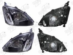 Фара Honda Civic 00-05 3 / 5D LH+RH комплект, черный хрусталь