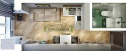 Гостинка, малосемейка, улица Кирова 152. Бабушкина, агентство, 24,5кв.м. План квартиры
