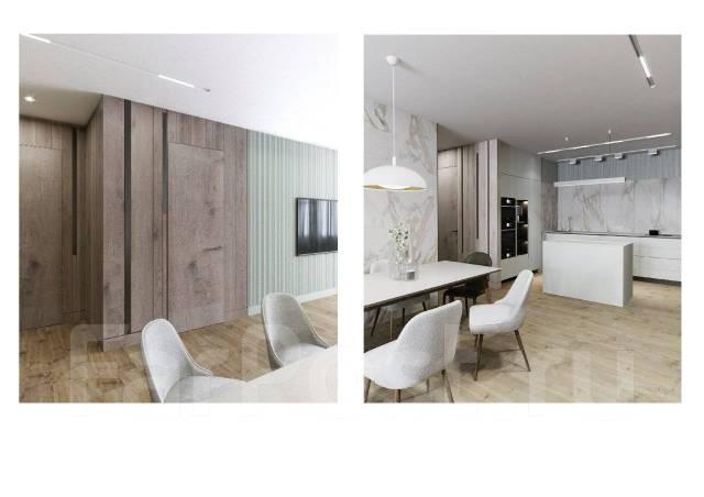3-комнатная, улица Тигровая 16а. Центр, агентство, 105,0кв.м. Дизайн-проект