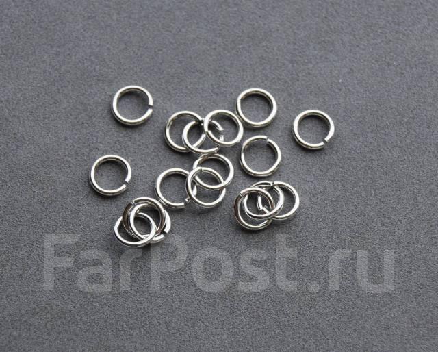 Соединительные колечки 5 мм, покрытие родий 50 шт.