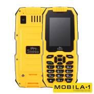 Snopow M2. Новый, до 8 Гб, Желтый, Черный, 3G, Dual-SIM, Защищенный, Кнопочный. Под заказ