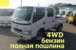 Toyota ToyoAce. Toyota Toyace 4WD, двухкабинник + борт 1,5 тонны, 2 000куб. см., 1 500кг., 4x4