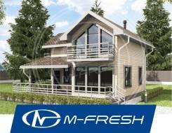 M-fresh Jessica (Проект Г-образного каркасного дома с террасой! ). 100-200 кв. м., 2 этажа, 4 комнаты, бетон
